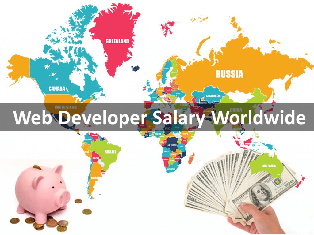 Web developer salary wordwide